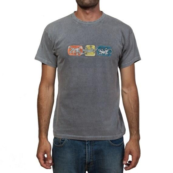 Stonewashed T-Shirt - Ethnic Lizards ΙΙ