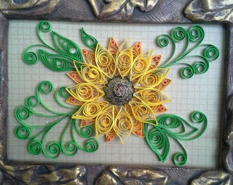 Quilled Summer sunflower