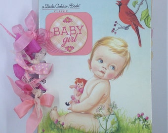 Baby Girl Book, Baby Scrapbook, Baby Memory book, Baby Keepsake book