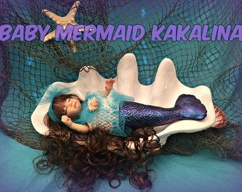 Reborn Preemie OOAK Baby Mermaid Kakalina ~ UPDATED LISTING 05/19/2017