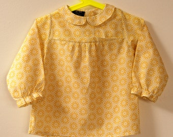 Small shirt girl 2 years, Col Claudine and frilly bottom long sleeve