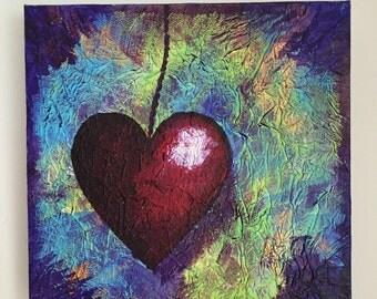 Dangling heart