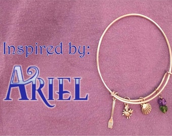 Ariel Inspired Charm Bracelet
