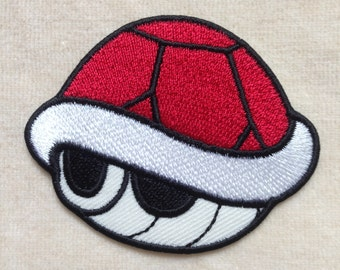 Red Shell Turtle Iron On Patch