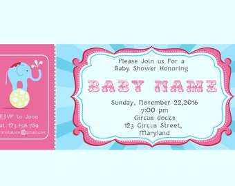 Circus Baby Shower Invitations -BSI_CCS_08