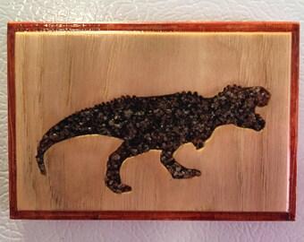 Refrigerator Magnet - Black Sand T-Rex