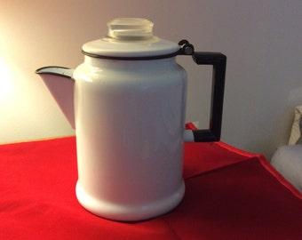Vintage Graniteware Teapot