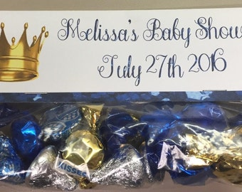 Royal Prince Babyshower Goodie Bag Toppers, Royal Prince Birthday Topper, Royal Prince Theme, Custom Royal Prince Themed Party, Goodie Bags