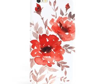 Watercolor Floral Phone Case IPhone 6 Case Phone 6S Plus Case Summer iPhone 6 Case 3D Slim iPhone 6 Plus Case Samsung Galaxy S7 Case Samsung