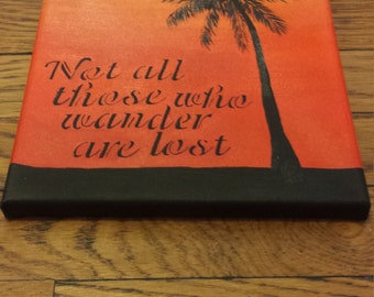 Wander quote canvas