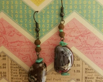 Beautiful Handcrafted Earrings With Authentic Stones!