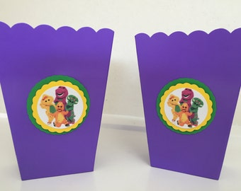 Barney and Friends Party Favor Popcorn Snack Boxes Supplies