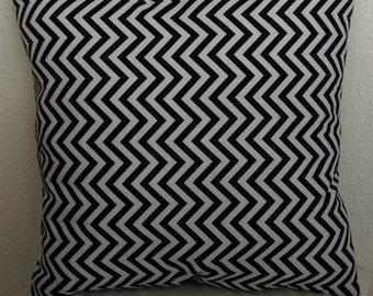 Zigzag Throw Pillow with Black Back