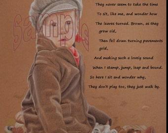 Autumn Boy  Poem Art Print