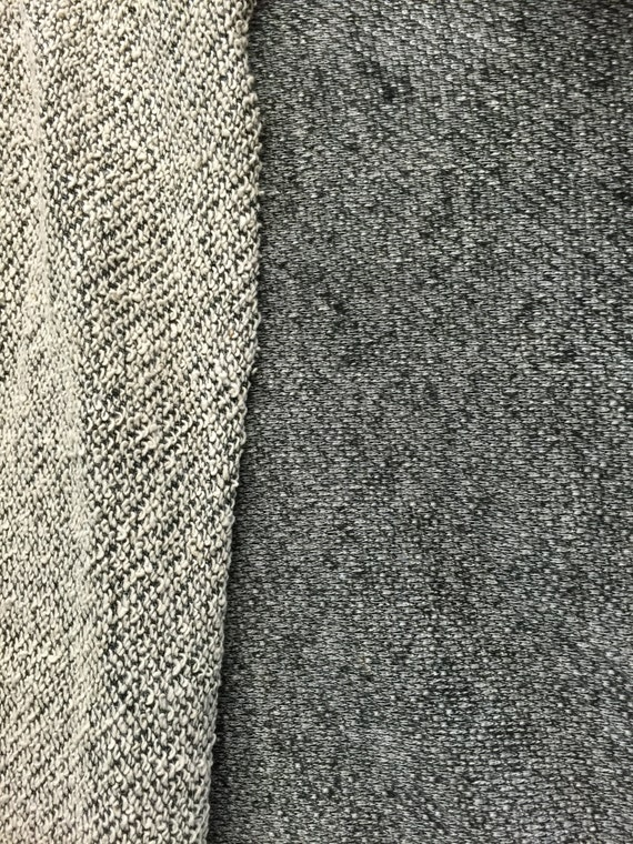 Cotton And Rayon Desinerfabric French Terry Cloth Grey