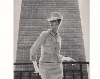 Original Vogue Fashion Page 1964 - Britons in New York
