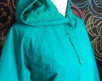 Vintage Turquoise Raincoat