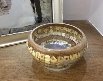 Resin Letter Bowl