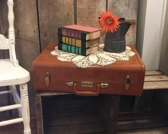 Samsonite Streamline Suitcase, Vintage Samsonite Suitcase, Large Brown Suitcase, 21 inch Suitcase, Brown Samsonite, Old Suitcase, Photo Prop