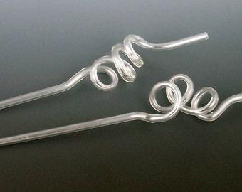 Glass Crazy Straws (Set of 2)