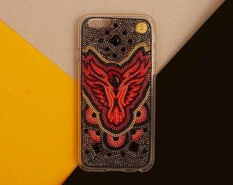 Phoenix bird iphone 7 case iphone 7 plus case Phoenix bird case handmade iPhone 6 iPhone 6 Plus black samsung Galaxy S6 galaxy s7