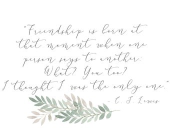 C. S. Lewis Friendship Quote Note Cards