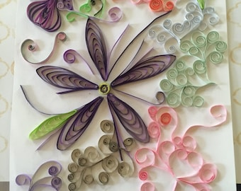 ColorMeFlorals #13. Beautiful quilled art piece in blooms