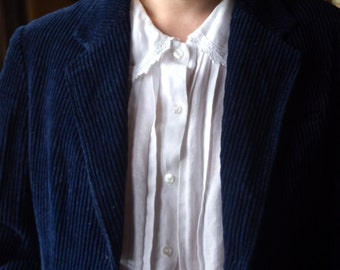 Vintage Corduroy Blazer • Navy Blue