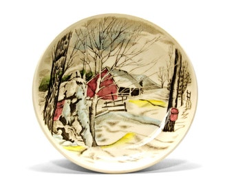 Johnson Brothers Friendly Village Plate Vintage 1950's. Pin tray, small dish , Homeware,decorative, collectable,