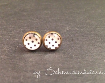 Studs bronze points black