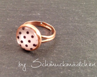 Ring rose gold points