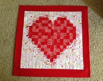 With Love watercolor quilt