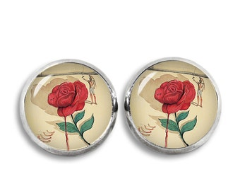 Don Jose's Flower Song Stud Earrings Dali Earrings Art Jewelry