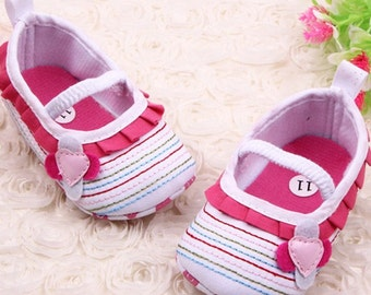 Baby Flower Ruffled Prewalker Shoes