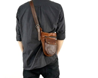 Gusti leather ' don ' genuine leather bum bag