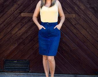 Blue jeans skirt M size