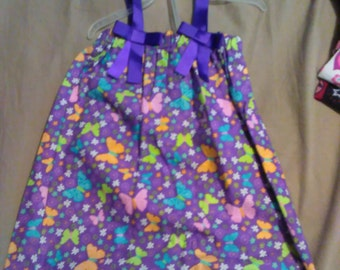 2T purple butterfly dress