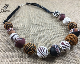 Beaded necklace/Fashion necklace/Statement necklace/Boho jewelry/Colorful/Gift for moms/Necklaces for women/Wife gift/Girlfriend gift