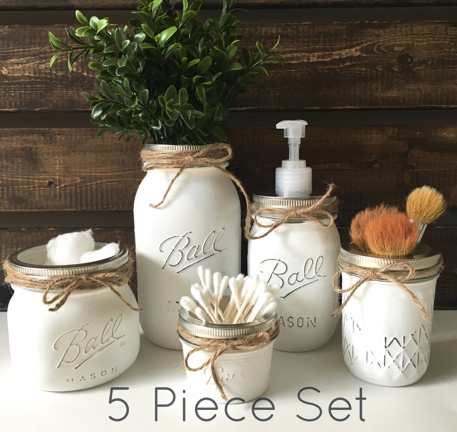 What To Put In Mason Jars For Decoration: Mason Jar Set Mason Jar Decor Home By LetterFlyDesigns On Etsy