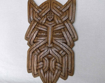 "talisman ""Face of Veles"". ash-wood"