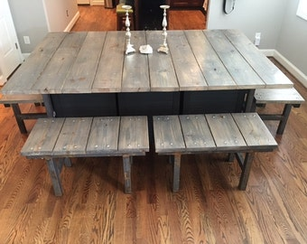 chunky dining room table