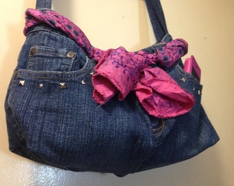 Handmade Upcycled Denim Handbag