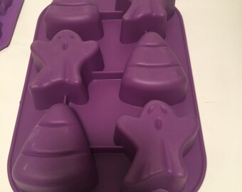 Halloween Silicone Soap Mold . Soap Making. Ghost Mold. Candy Corn Mold.