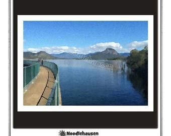 Moogerah Dam Print. Landscape. Digital Download. Moogerah Dam by Noodlehausen