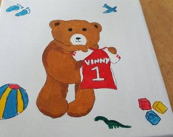 Kids teddy painting