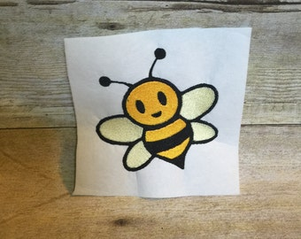 Bumble Bee Embroidery Design, Bee Applique