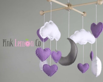 baby mobile,heart baby mobile, cloud baby mobile