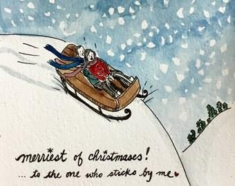 Christmas Sledding