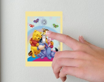 Winnie the Pooh- Light switch Cover-Winnie the Pooh & Friends- Switch Plate Cover-Wall plate cover