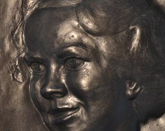 Custom Portrait Sculpture, Relief Sculpture, Family Portrait, Fine Art, Original Art